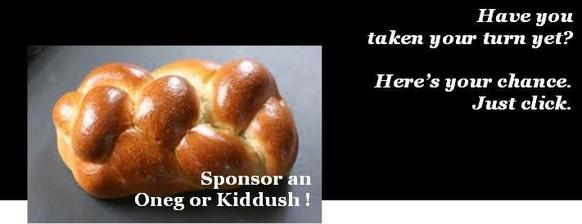 Sponsor an Oneg or Kiddush taken your turn 6